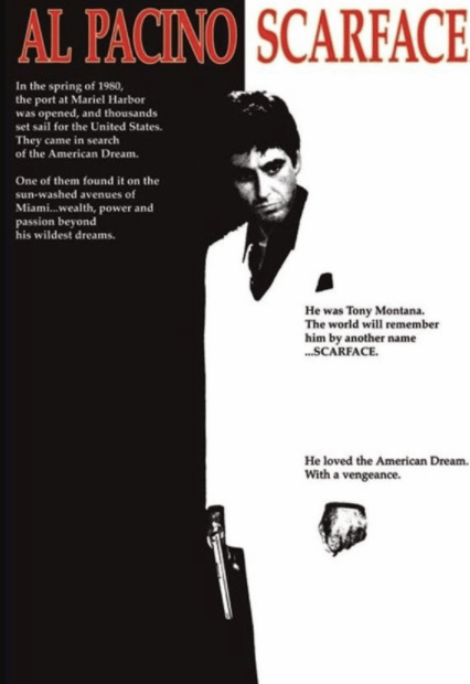Scarface (1983). Spiritual Movie Review - Jacklyn A. Lo