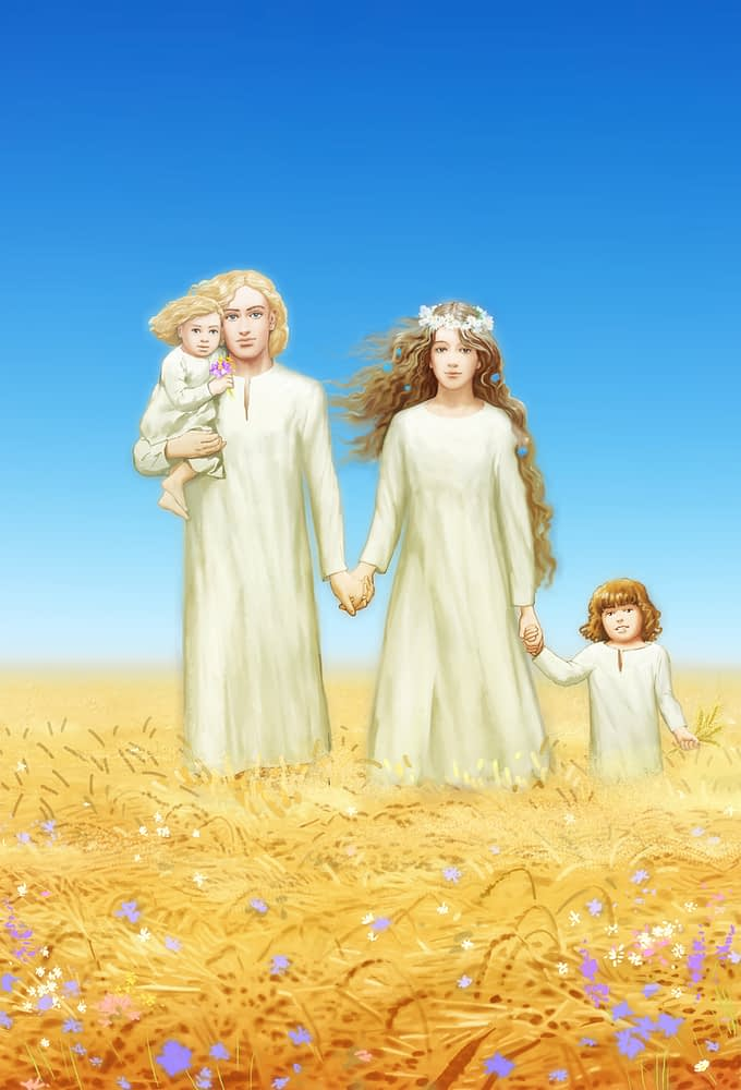 Ann, archangel Michael, Wu and his little sister enjoy Heaven life.